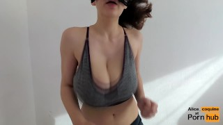 I tits  on bf beg and fcup cum my for jacks to jumping my tits on