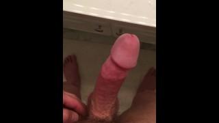 Cumshot sink load manscaping