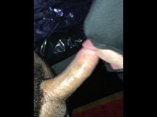 Anon Blowjob - Getting my hairy cock sucked