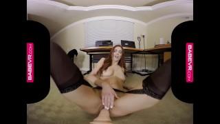 BaBeVR.com Busty Redhead Jayden Cole Masturbates In Her Office