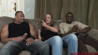 Black cock busty in lauren threeway vaughn very tits