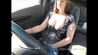 Pussy Play Orgasm While Driving