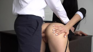 Anal sexy and tight fucked her ass pussy secretary creampie for boss amateur office
