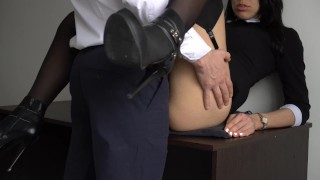 Fucked for creampie boss and pussy secretary her tight sexy ass anal amateurs office