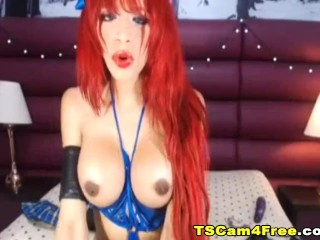 Spicyhot red haired shemale dares it all and bares it so hot