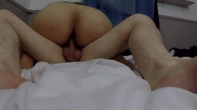 SHE CUMS HARD WHEN SHE GETS FILLED FULL OF CUM, AMATEUR COWGIRL CREAMPIE 16