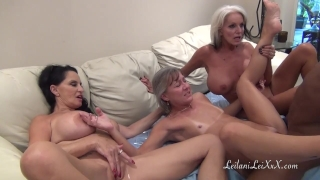 PenisColada - Three Milfs and a Black Cock Oral amateur