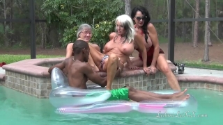 PenisColada - Three Milfs and a Black Cock Mydirtyhobby gangbang