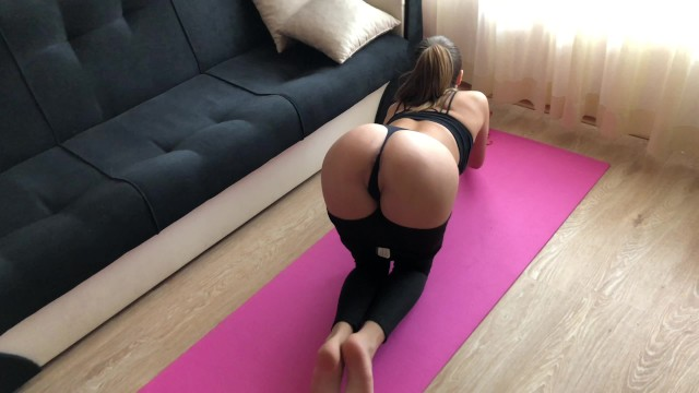 Girls receiving anal Yoga girl receive rough anal fuck during training. hd