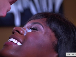 Ana Foxxx gets the biggest facial of her life