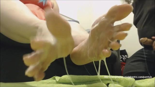 Sample clip of cheerleader porn - Blue haired bbws bukkake footjob w/fakedick/fakecum sample clip