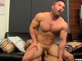 Hunky Brock Landon begging for throbbing rod of Mitch Vaughn