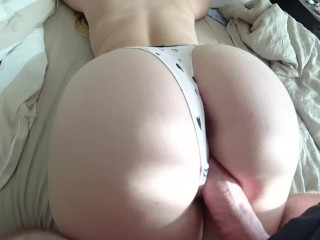 Beautiful ass and pretty pussy get sperm