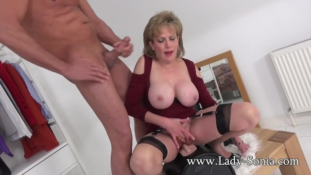 Pic open bottom girdle sonia dane Uk milf rides sybian and sucks a huge cock