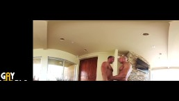 2 Muscle Jocks Fucks In VR360 HOT JOCK SEX!