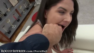 Francesca DiCaprio Dirty Talks in Italian As Rocco Drills her Ass Breeding newbie