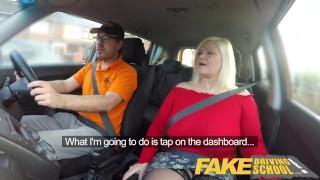 Fake Driving School Busty mature MILF sucks and fucks lucky instructor porno
