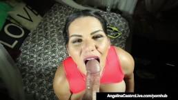 Cuban BBW Angelina Castro Sucks A Stranger's Cock To Get Cum