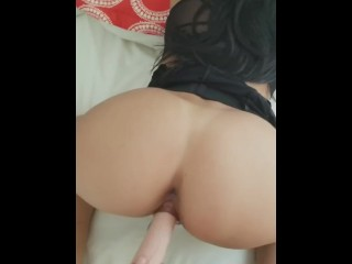 Dildo and anal plug in my girls Ass