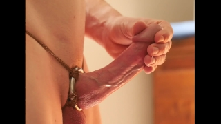 A ring harness shaft start false shaft and ring of commentary orgasm cumshot throbbing