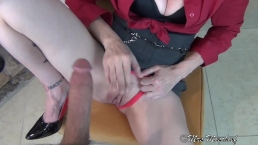 Fucking Dad's Wife in the Den - stepmom pov
