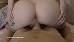 POV Reverse Cowgirl with a Big Creampie by Amateur Couple