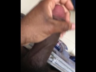 College student jerks dick while fraternity roommates are...