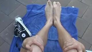 Blonde jason his sukcing feet outdoors hot own jock footfriends gay
