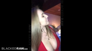 Preview 2 of BLACKEDRAW Big titty white girl gets double teamed by BBCs