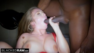 BLACKEDRAW Big titty white girl gets double teamed by BBCs Raw hot