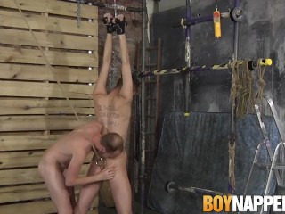 Maledom gives his sub twink a good anal destruction