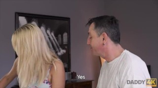DADDY4K. Sleepy guy missed how his father fucks his gf porno