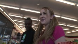 18 year old Amy Valor rides first huge black dick
