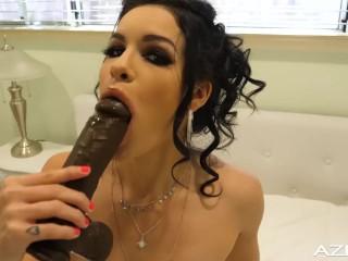 Freaky Little Eden Sin Dildos with huge Black Cock
