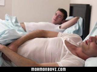 MormonBoyz - Horse hung missionary fucks his roommate bareback on camera