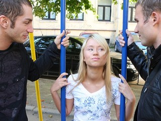 BrokenTeens - Petite Blonde Teen Picked Up From Playground For Threesome