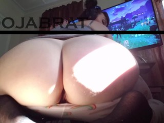 WORSHIP PAWG GAMER'S FAT ASS WHILE PLAYING FORTNITE