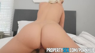PropertySex - Good looking agent fucks home owner for listing Babe facial
