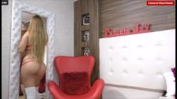 PamelaJay- Lingerie red- sensual woman