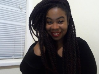 Ebony all natural smile thick and curvy cami...