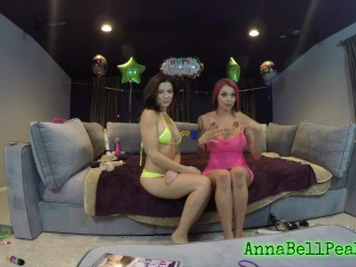 ANNA BELL PEAKS WEBCAM SHOW WITH BRUNETTE PAWG FRIEND