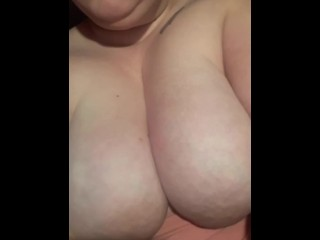 Young BBW Plays with huge tits