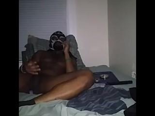 Cumming in my raiders mask