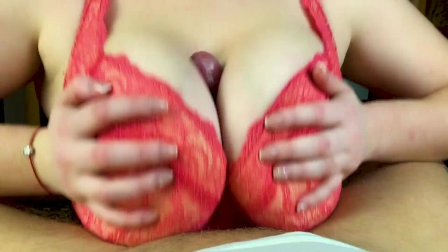 Tits job Hot amateur tits fuck - pov close up tits job from my girlfriend