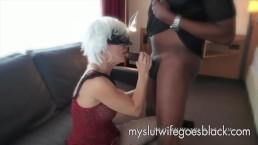 white wife Alexia Thomas first meet with big black cock to suck