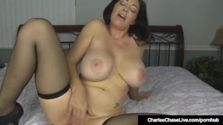 Horny Hazel Eyed Charlee Chase Plugs Both Her Willing Holes!