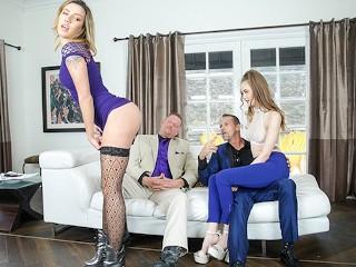 DaughterSwap - Scummy Step Dads Take Advantage Of Their Slutty Daughters