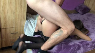 Amateur girl gets brutally anal doggy fuck and gaping asshole.HD porno