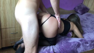 Amateur girl gets brutally anal doggy fuck and gaping asshole.HD Cock blowjob
