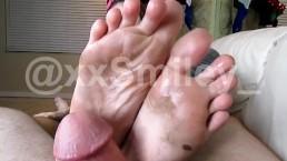 Dirty FootJob. xxsmiley